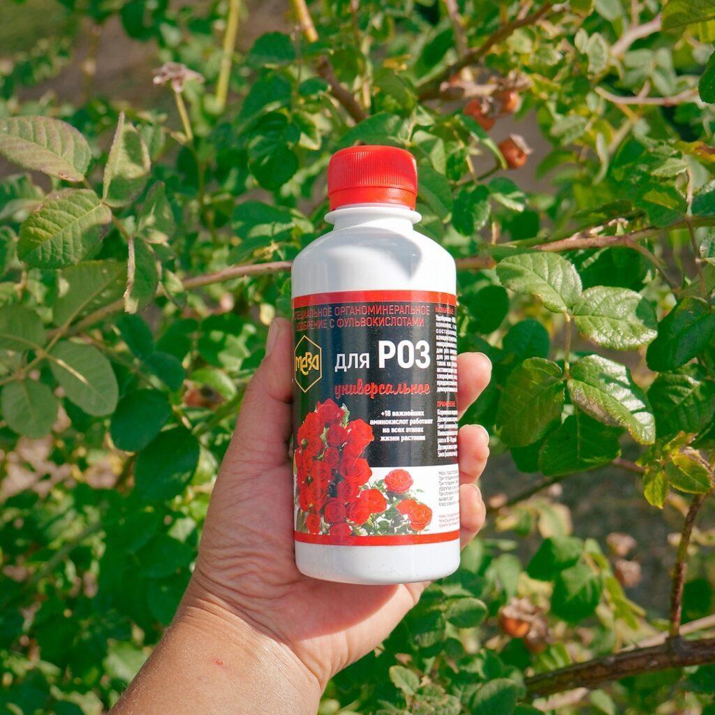 Специальное универсальное органоминеральное удобрение МЕРА с фульвокислотами для роз.